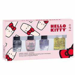 """4 Pc Mini  Treatment Pack """"Hello Kitty 2019"""" Gift 1/8oz OPI"""