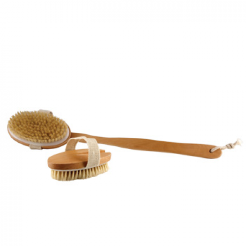 Dry Body Brush Natural Bristle