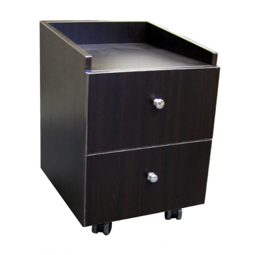 """Pedicure Trolley Two Drawers On Casters Coffee(15-3/4""""wx15-3/4""""dx17-3/4"""")"""