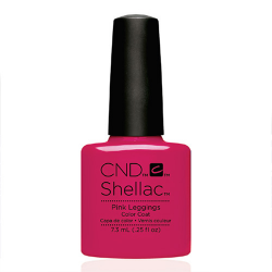 """Pink Leggings Shellac 1/4 oz (7.3 ml) """"New Wave Collection 16"""" CND"""