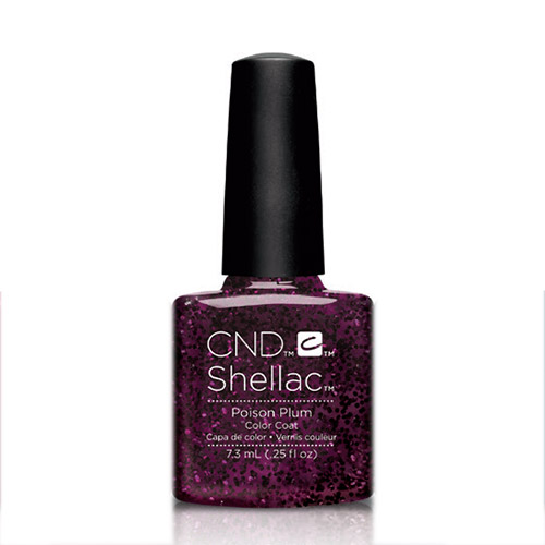 "Poison Plum Shellac 1/4 oz (7.3ml)  ""Contradictions"" CND discontinued"
