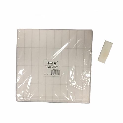 Small White Slim Buffers 2 Sided Fine Sanding White Grit (40/sheet, 2x5 cm each)