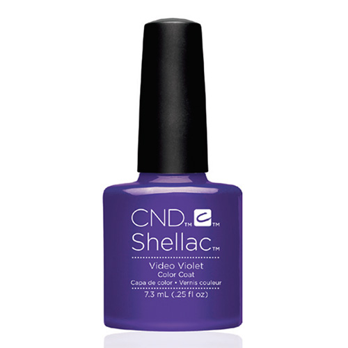 "Video Violet Shellac 1/4 oz (7.3 ml) ""New Wave Collection"" CND"