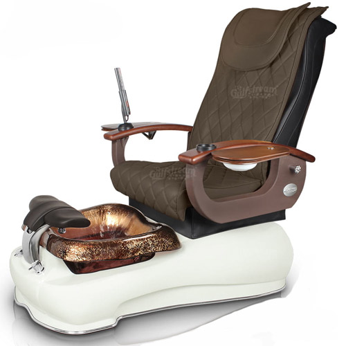 LaFleur III Foot Spa with Roller Massage Glass Bowl Gulfstream