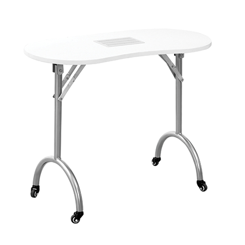 "Manicure Table Darkwood W/Drawer ""Portable"""