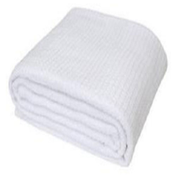 Waffle Thermal Blanket White Large Size