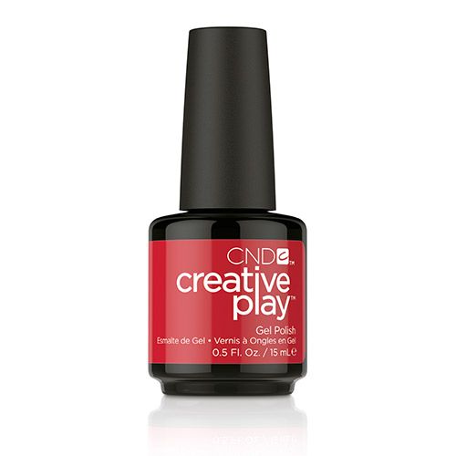 Creative Play GEL Polish #412 Red Y To Roll (15ml) 0.5 oz CND - disc