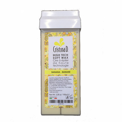 Roll On High Tech Soft Wax BANANA CREAM 100ml Cristina D