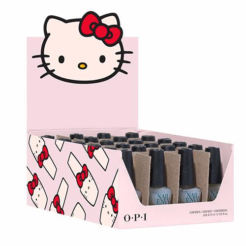 "Mini Nail Envy Original ""Hello Kitty 2019"" Gift (24 Mini Nail Envy 1/8oz) OPI"
