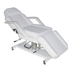 Galaxy Hydraulic Bed(adjustable height hydraulic,backrest and foot manual) White