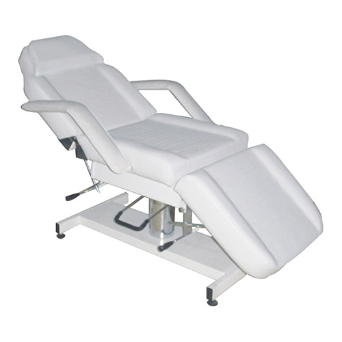 GALAXY Hydraulic Treatment Lounge (backrest and foot manual) White