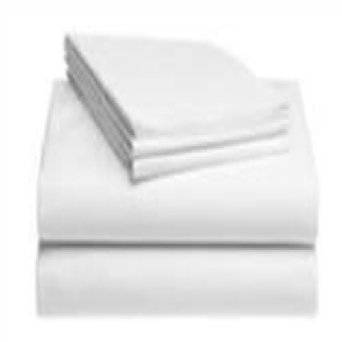 White Cotton Flat Sheet 54 X 90 (Plain)
