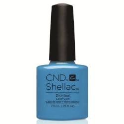 "Digi-Teal Shellac 1/4oz (7.3ml) ""Art Vandal Collection"" CND"