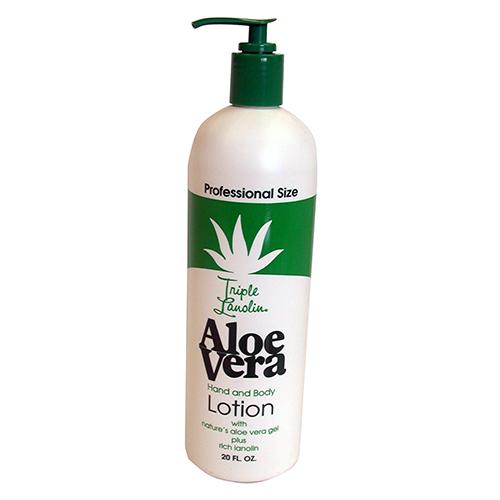 Aloe Vera Hand & Body Lotion 590ml- Pump Triple Lanolin