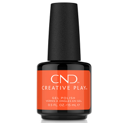 """Creative Play GEL Polish #526 Orange Pulse """"Bright Outs"""" (15ml) CND discontinued"""