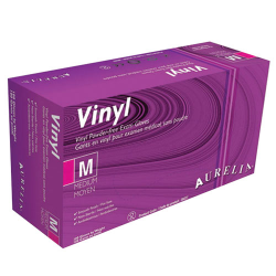 Vinyl Gloves MEDIUM 100/box Powder Free (Clear)