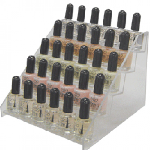 Nail Polish Stand Clear Acrylic Hold Approx. 50 Pieces (display H) discontinued