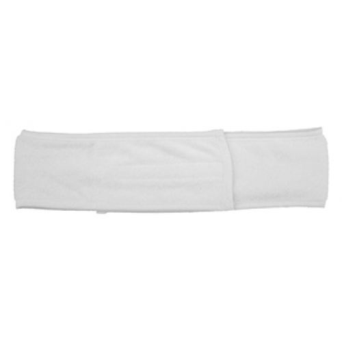 "Headband Stretch Terry 2"" with rim & velcro closure"