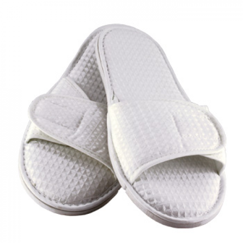 Slippers Waffle Weave Soft With Velcro