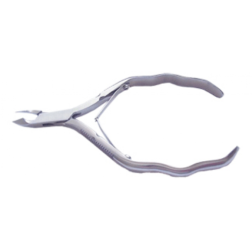 Cuticle Nipper 4.5mm Jaw Curved Handle
