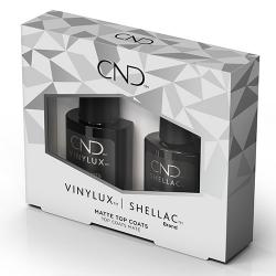 Vinylux & Shellac Matte Top Coat Duo Pack (.5oz + .25oz) CND
