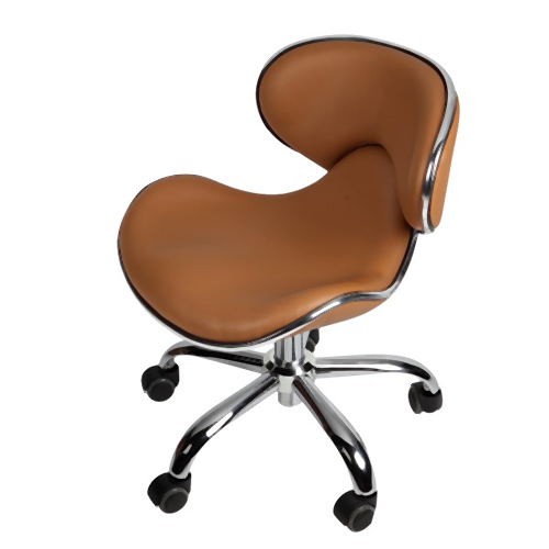 """Euro Pedi/Mani Stool Cappuccino LOW airlift 13"""" to 16"""""""