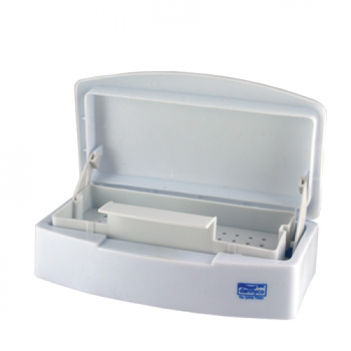 Disinfectant Sterilizing Tray White Plastic (with transparent window)