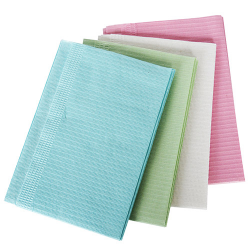 """Disposable Bibs/Table Cover Paper 13""""x18"""" White (800 units) 1 Ply Tissue"""