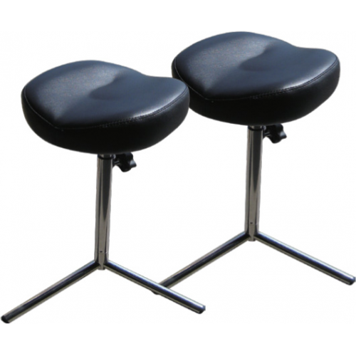 Leg Rest Black With 3 Tier Chrome Base Adjustable Height