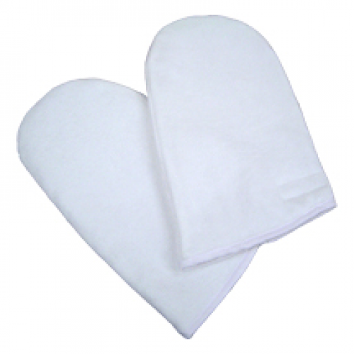 Insulated Terry Mitts White 1pr/pkg