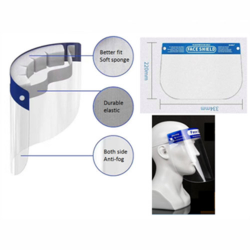 Face Shield with foam head padding (10 face shields/pack) GD