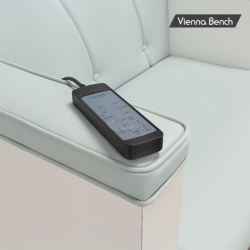 Vienna Single Bench with Square Bowl, laminate finish Gulfstream