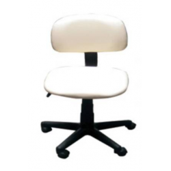 Operator Chair Air Lift Plastic Base On Casters (Black)