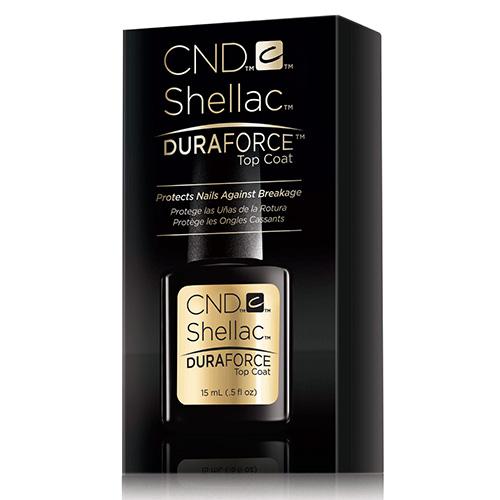 Duraforce Shellac Strengthening Top Coat .5oz (15ml) large size CND