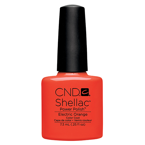 Electric Orange Shellac 1/4oz (7.3ml) CND