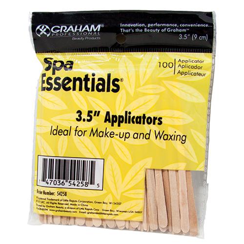 """Applicator Sticks  3.5"""" 100 pcs/bag Spa Essentials"""