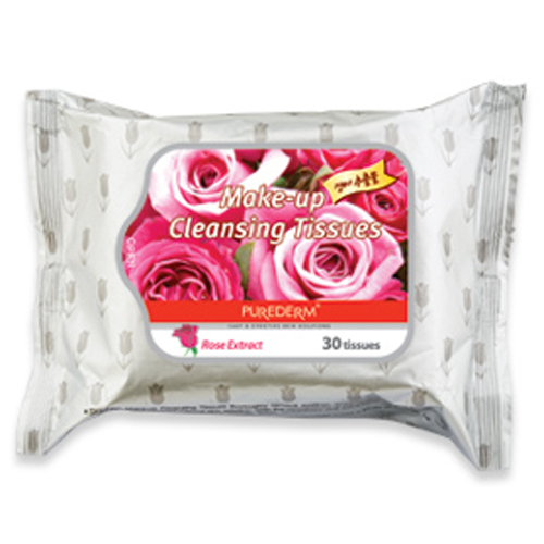 Rose Extract Make Up Cleansing Tissues 30/pack  Purederm