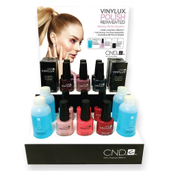 Vinylux System Display(6 shades 2 of each,4 top coats,4x2oz scrub) CND