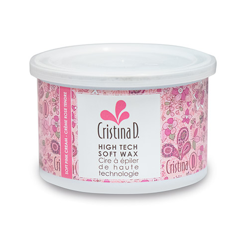 SOFT PINK CREAM WAX High Tech Wax 400ml CAN Cristina D.