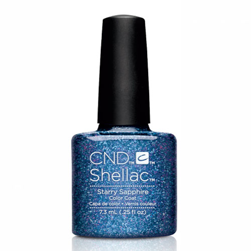 "Starry Sapphire Shellac 1/4 oz (7.3 ml) ""Starstruck Holiday Collection"" CND"