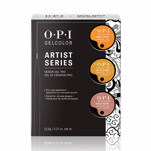 GelColor Artist Series Trio #4 Metalic Set #2 (penny,gold,copper) OPI